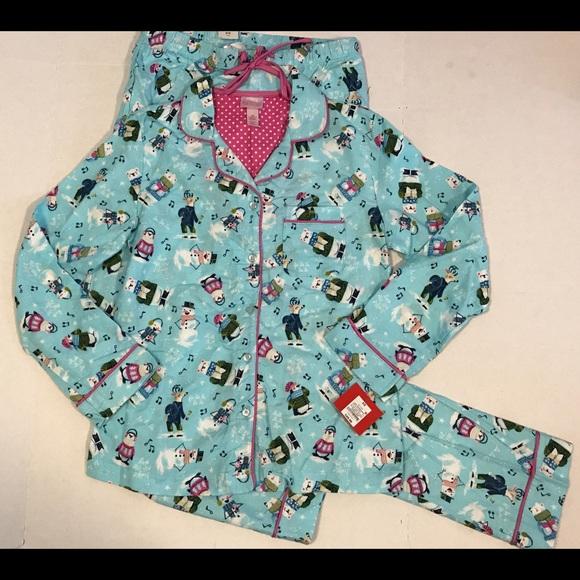 nwt juniors xs pajamas penguin snowman christmas - Juniors Christmas Pajamas